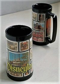 ディズニーランド  サーモサーブ   Thermo-Serv Disnyland  ©WALT DISNEY PRODUCTIONS  MADE IN U.S.A.   size: topΦ8×H16.2×bottomΦ9(cm)