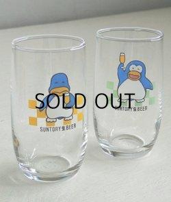 画像1: SUNTORY 生 BEER  パピプペンギンズグラス 2pcセット