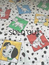 """101 dalmatians  flat sheet twinTHE BBIB, CO  U.S.A.   """"101匹わんちゃん""""  フラットシーツ  ツインサイズ: 173×240(cm)"""