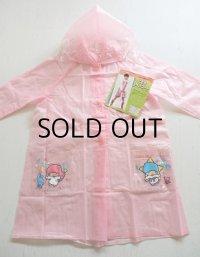 SANRIO サンリオ  LIttle Twin Stores キキとララ  こどもレインコート フード付  5号(4-5才用)  color: ピンク