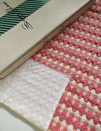 Summer Blanket サマーブランケット   ピンク×オレンジ×ホワイト  SIZE:W127×L177(cm)   素材: ポリノジック 50%  エステル 50%