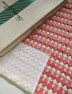 画像1: Summer Blanket サマーブランケット   ピンク×オレンジ×ホワイト  SIZE:W127×L177(cm)   素材: ポリノジック 50%  エステル 50%