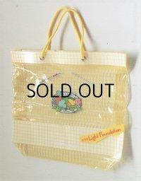Kanebo COSMETICS カネボウ  '84 SUMMER Lady80 Light Foundation  君たちキウイ・パパイヤ・マンゴーだね  ノベルティ シースルーヴィニールバック