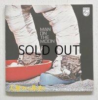 """EP/7""""/Vinyl  アメリカ航空宇宙局の録音による  「月面着陸」記念レコード  MAN ON THE MOON  人類ついに月に立つ〜アポロ11号からのメッセージ〜   PHILIPS  対訳、起動図、ピンナップ付"""