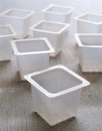 TUPPERWARE タッパーウェア   製氷器/アイスキューブ型 10pcセット  ホワイト/半透明    容量: 130ml