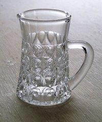 ガラスクリーマー  size: Φ5cm (ハンドル含む7.5cm)×H8.5cm