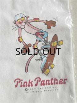 画像1: Pink Panther  Tシャツ   フリーサイズ  ©1979 UAC-GEOFFRE ALL RIGHTS RESERVE BY ST.EVANS   ©1981 UAC-Geoffrey All Rights Reserved
