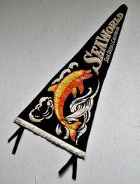 スーヴェニア ペナント  SEAWORLD SAN DIEGO, CALIFORNIA   カリフォルニア州サンディエゴシーワールド  フエルト製
