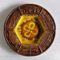 Treasure Craft OF HAWAII KAMULI, MAUI   ハワイ スーヴェニア    飾り皿、アシュトレイ  size: Φ19.5×H1.7(cm)