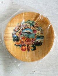 Aloha HAWAII   ハワイ土産 スーヴェニア    飾り皿、小皿 4枚セット  size: Φ10.5cm