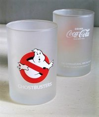 映画 『ゴーストバスターズ』 コカ・コーラフロストグラス GHOSTBUSTERS  DRINK Coca-Cola TRADE MARK REGD.  THE SUPERNATURAL SPECTACULAR  ©1984 Columbia Pictures Industries, Inc.  size: Φ7×H10.5(cm)  各1個