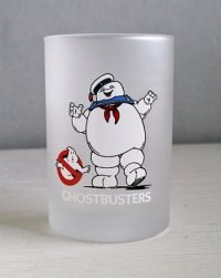 映画 『ゴーストバスターズ』 コカ・コーラフロストグラス マシュマロマン   GHOSTBUSTERS  DRINK Coca-Cola TRADE MARK REGD.  THE SUPERNATURAL SPECTACULAR  ©1984 Columbia Pictures Industries, Inc.  size: Φ7×H10.5(cm)