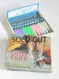 画像1: LITTLE FORK  HIGH CLASS  18Cr. STAINLESS STEEL 12pcs  姫フォーク/フルーツフォーク 12pcセット