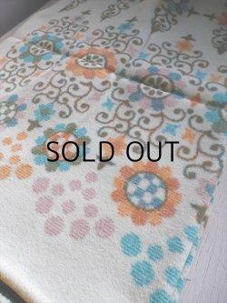 画像1: CHOGIN BLANKET   高級毛刈毛布  アクリル 10% レイヨン 90% 幾何学模様 パステルカラー   size: 約140×約190(cm)