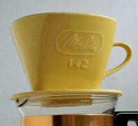 Melitta メリタ 1×2  SF-S-Deluxe KG22  コーヒーフィルター  陶器製   サイズ:topΦ10.6cm・h7.7cm・bottomΦ10.3cm