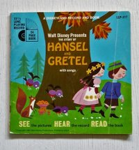"EP/7""/Vinyl   A DISNEYLAND RECORD AND BOOK  Walt Disney Presents   THE STORY OF HANSEL AND GRETEL with songs  (1968)  LONG PLAYING  RECORD"