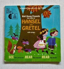 """画像1: EP/7""""/Vinyl   A DISNEYLAND RECORD AND BOOK  Walt Disney Presents   THE STORY OF HANSEL AND GRETEL with songs  (1968)  LONG PLAYING  RECORD"""