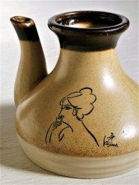 黄桜   燗瓶  妻ガッパ(小島功 画)  size: topØ5×H9×胴周 Ø10(cm)