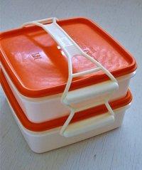 DARUMA WARE  レジャーパック(2段)  LEISURE PACIC LB-1  color: オレンジ/ホワイト