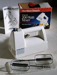 Hamilto Beach  5 Speed 200 Watt Mixer  ハンドミキサー  ホワイト