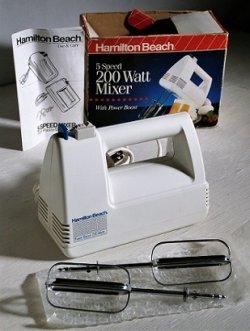 画像1: Hamilto Beach  5 Speed 200 Watt Mixer  ハンドミキサー  ホワイト