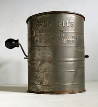 BROMWELL'S  MEASURING-SIFTER 3 Cup Metal  MADE IN U.S.A.  メタルシフター   size: H14.5×Φ10.8 (cm)