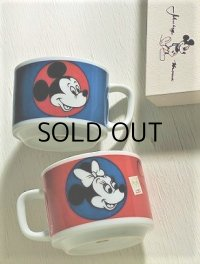 Sango CHINA   Mickey Mouse ミッキーマウス&ミニーマウス   ペアーマグカップ 箱付