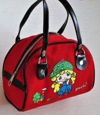 ミニバック  Puchi  color: 赤  布  size: L15.5cm×H11cm×D8.8cm