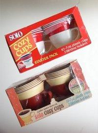 SOLO COZY CUPS  2pcホルダー&10プラスチックカップ  (1)1970's  (2)1980's-1990's