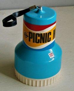 画像1: ダイワ  PICNIC MATE ピクニックメイト 3人用 ナフキン、お皿、コップ、ボール、フォーク、ナイフ、スプーン、缶切  size:Φ11.5・H18・Φ7.5(cm)