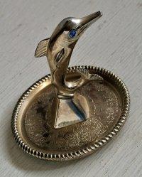 リングホルダー/ジュエリーディッシュ  ドルフィン/イルカ  size: プレート8.3 cm・7.5cm/ 本体 H8cm