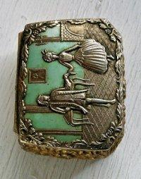 アクセサリーケース  中世ヨーロッパ貴族  ゴールド/エメラルド