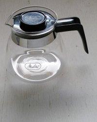 Melitta メリタ  コーヒーカラフェ グラスポット  size: h11.5cm/Φ12.5cm /W(ハンドルを含む)16cm