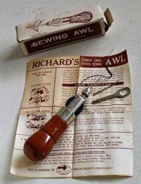 RICHARD'S  Lock Stitch Handy Sewing Awl  レザークラフト ロックステッチ縫いアールセット2針 MODEL No. 1331