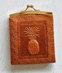 画像1: Coin purse 革製小銭入れ  Aloha from Hawaii /Diamond Head Waikiki