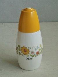 Suger シェイカー  ミルクガラス  ヘッド:プラスチック   size: topΦ3.3/H16/bottom 5.5(cm)