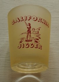 CALIFORNIA JIGGER  スーベニアグラス   top⌀9×H11×bottom⌀6.8(cm)