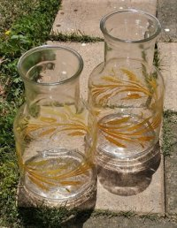 Libbey Glass  Carafes  Golden Wheat Design    リビーグラス  カラフェ/ピッチャー/ジャー  ウィート/麦   各1個