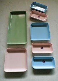 Noritake  メラミンウェア    プレート(L1/M2/S4)7pcセット   みずいろ、ピンク、ライトグリーン