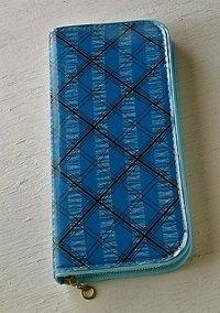 筆箱/ペンケース  ビニールカバー  color: ブルー ブラッククロスライン ホワイトパターン  size: L21.3×W9.7×D2.5(cm)