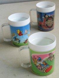 マグカップ  5years TOKYO DISNEYLAND  I FEEL COKE  プラマグ 3pcセット  size: ⌀7.2cm(ハンドル含む10cm)×H10cm