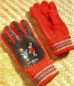 画像1: ミニー&デイジー  子供用手袋  Walt Disney Productions