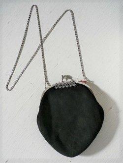 画像1: PRINCESS プリンセス パーティーバック、ショルダーバック  VELOUR ベロア  schwarz ブラック  4226  Made in W.Germany