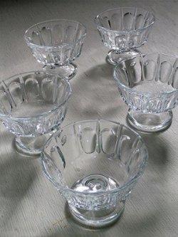 画像1: 脚付きガラスカップ  各1個
