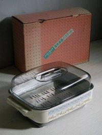 富士琺瑯工業  ハニーウェア  電気保温バスケット  ソフトフラワー  FB-906  100V/90W