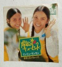 """EP/7""""/Vinyl  陽気な恋のキューピット/好きになっちゃった  リンリン・ランラン  (1974)  Victor"""