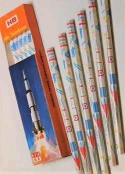 画像1: トンボ鉛筆  ロケット サターン5型ロケット &アポロ宇宙船  2414-B  HB  1ダース
