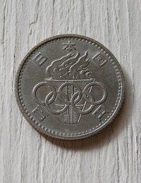 1964 東京オリンピック  100円玉 5枚セット  表面:TOKYO 1964 100 昭和39年  裏面:日本国 百円