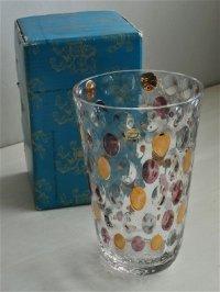 花瓶  ボヘミアンガラス  ウォータードロップ  チェコスロバキア