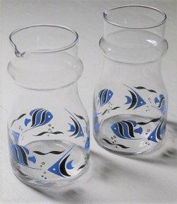 画像1: 佐々木硝子  トロピカルフィッシュプリント  水差し/カラフェ/ピッチャー  各1個